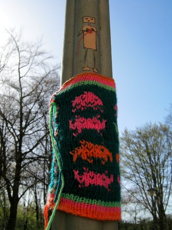 Street-People mit Urban Knitting