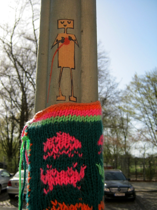 Street-People mit Urban Knitting
