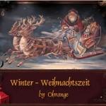 Ohrange Winter-Weihnachtszeit